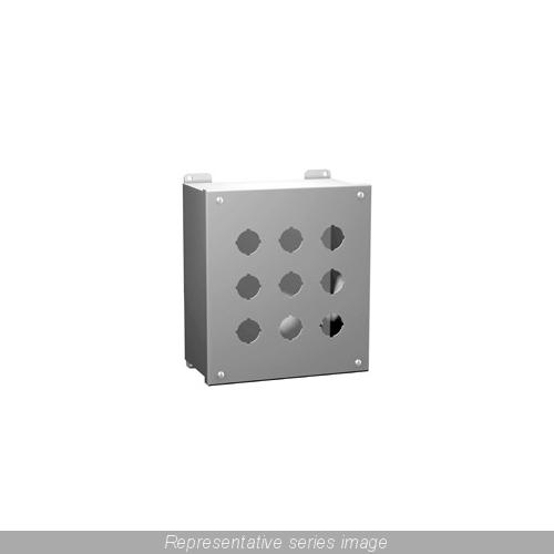 HAMM-1437MO PUSHBUTTON ENCL - EXTRA DEEP - 12 PB X 22.5MM - STEEL/GRAY