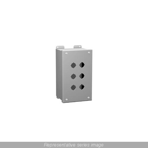 HAMM-MPB1 PUSHBUTTON ENCL - 1 PB X 22.5MM - STEEL/GRAY