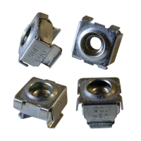 1/4-20 Nickel Square Hole Cage Nut