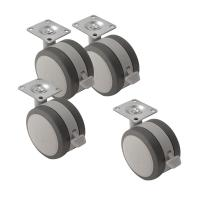 Soft Grip Cabinet Caster Set