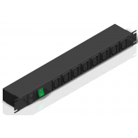 100-240 VAC / 10A IEC Double Pole Switched Rackmount Outlet Strip