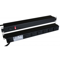 15 Amp Horizontal Rackmount Outlet Strip