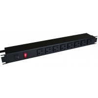 20 Amp Horizontal Rackmount Outlet Strip