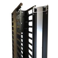 High-Density Vertical Finger Manager with Slam-Latching Door