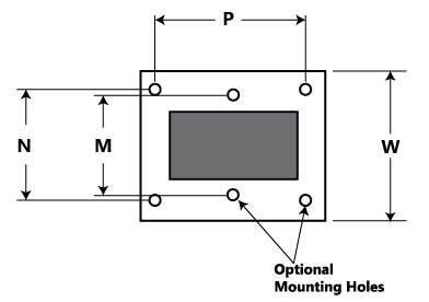 Mounting Dimensions for 183 Series