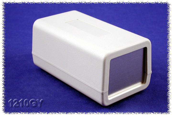 1210GY - 1210 Series Flame Retardant ABS Bench Case Enclosures with Aluminium End Panels