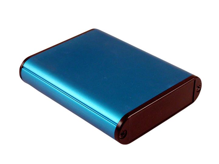 1455CALBU-10 Aluminium End 1455CALBU-10 1455C801 /& 1455C1201 Extruded Aluminum Instrument Enclosures Pack 10 Plate Blue
