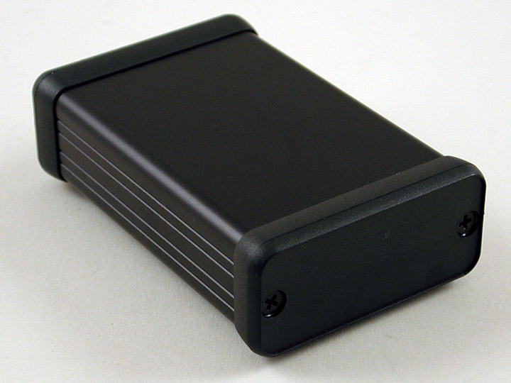 1455C802BK - 1455 Series Extruded Aluminium Enclosures with Plastic End Panels