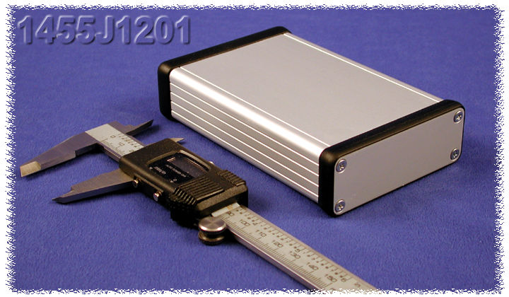 1455J1201 - 1455 Series Extruded Aluminium Enclosures with Aluminium End Panels