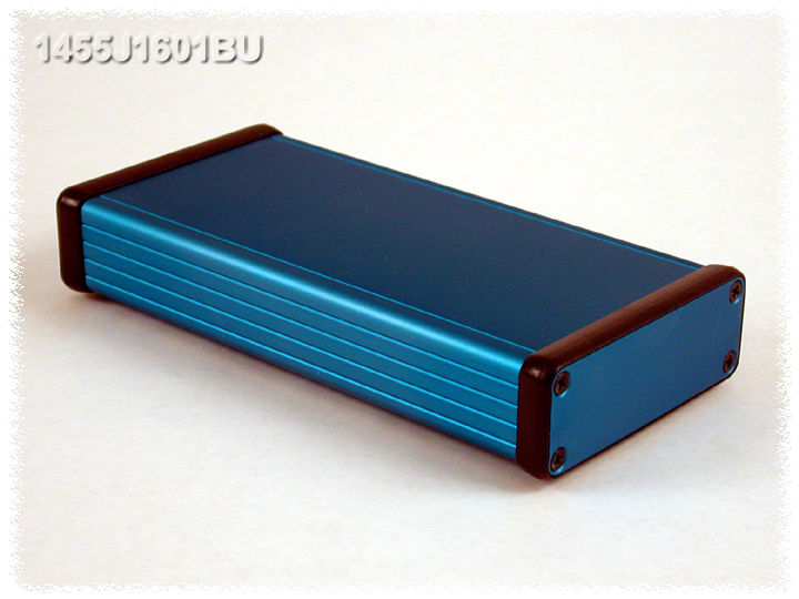1455J1601BU - 1455 Series Extruded Aluminium Enclosures with Aluminium End Panels