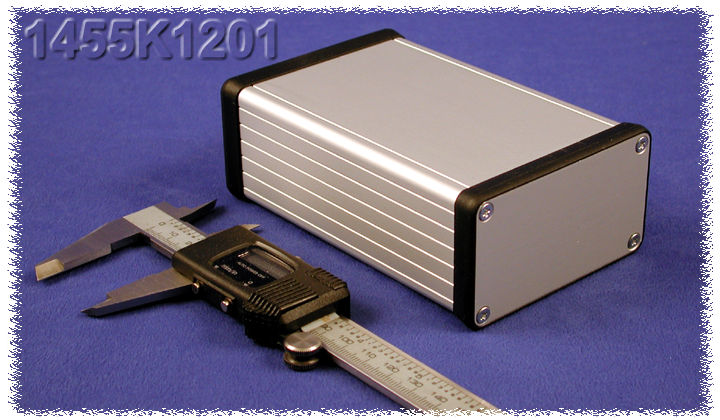 1455K1201 - 1455 Series Extruded Aluminium Enclosures with Aluminium End Panels