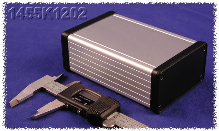 1455K1202 - 1455 Series Extruded Aluminium Enclosures with Plastic End Panels