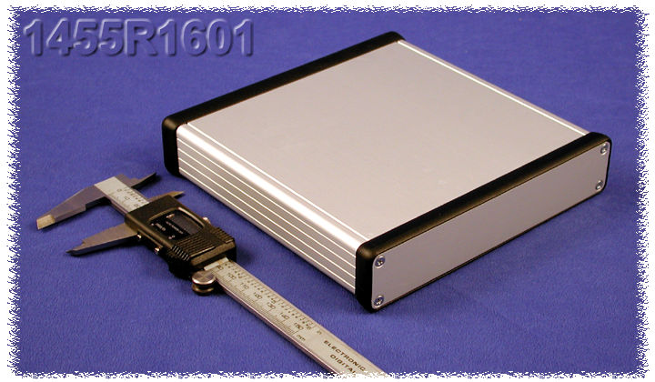 1455R1601 - 1455 Series Extruded Aluminium Enclosures with Aluminium End Panels