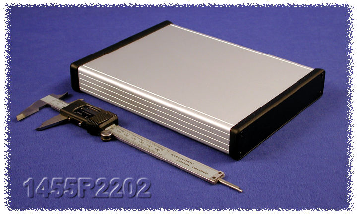 1455R2202 - 1455 Series Extruded Aluminium Enclosures with Plastic End Panels