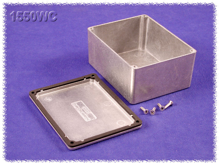 1550WC - 1550 Series Diecast Aluminium Enclosures with IP66 Rated Sealing Kit