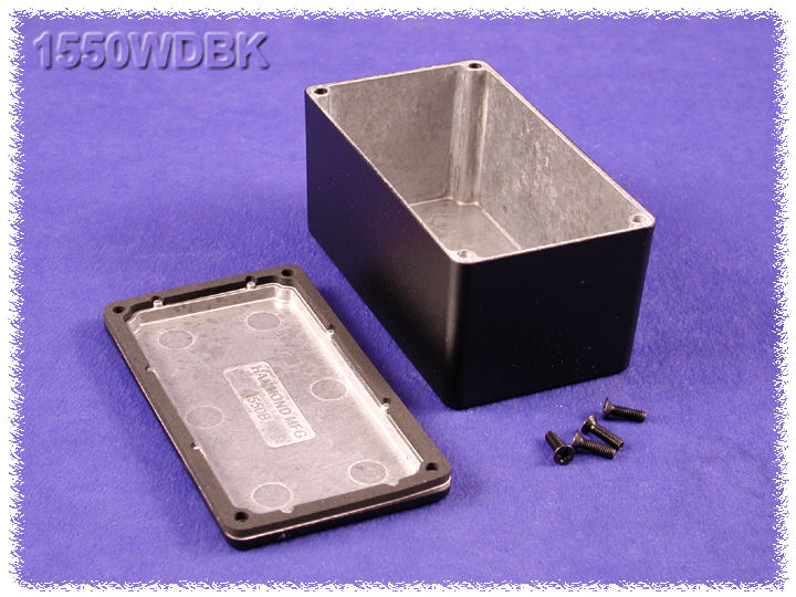 1550WDBK - 1550 Series Diecast Aluminium Enclosures with IP66 Rated Sealing Kit