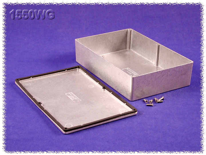 1550WG - 1550 Series Diecast Aluminium Enclosures with IP66 Rated Sealing Kit