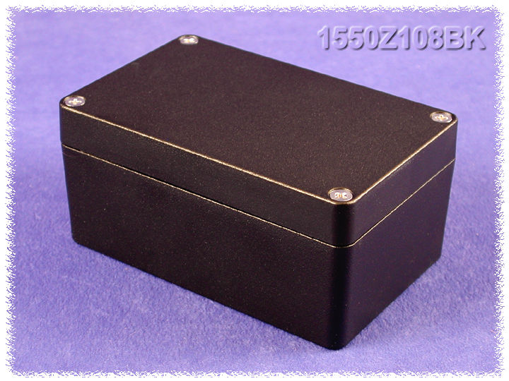 1550Z108BK - 1550Z Series Water-Tight Diecast Aluminuim Enclosures