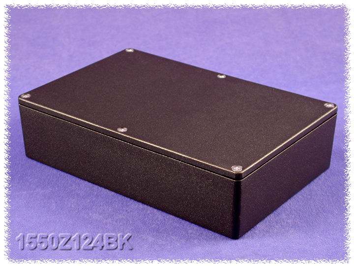 1550Z124BK - 1550Z Series Water-Tight Diecast Aluminuim Enclosures