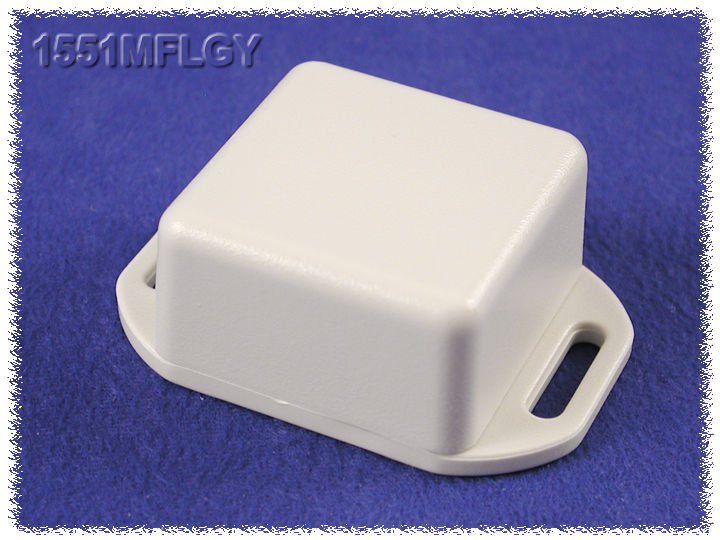 1551MFLGY - 1551 Series ABS Plastic Miniature Hand Held Enclosures with Mounting Flanges
