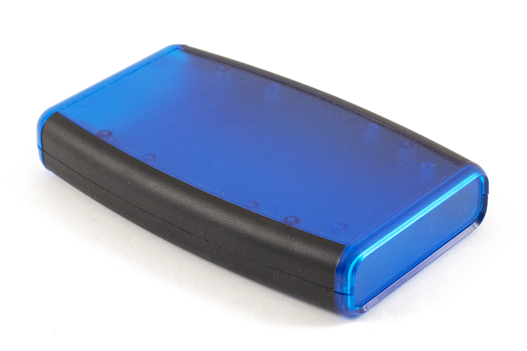 1553DTBUBKBAT - 1553 Series Soft Sided ABS Plastic Hand Held Enclosures with Battery Door and Compartment