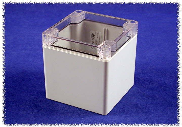 1554EE2GYCL - 1554 Series Polycarbonate (UL Listed) Enclosures with Clear Lid