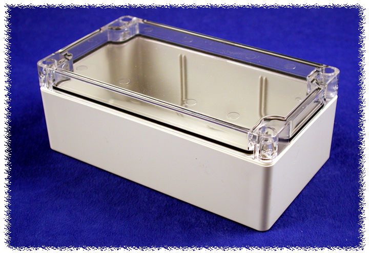 1554J2GYCL - 1554 Series Polycarbonate (UL Listed) Enclosures with Clear Lid