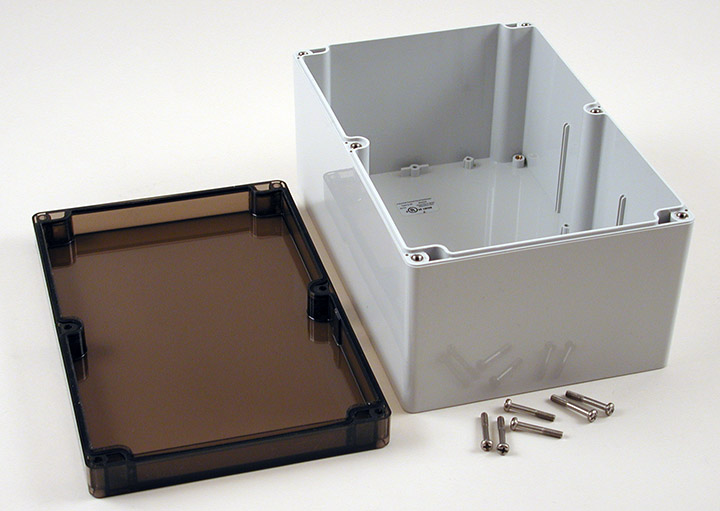 1554VB2GYSL - 1554 Series Polycarbonate (UL Listed) Enclosures with Smoked Lid