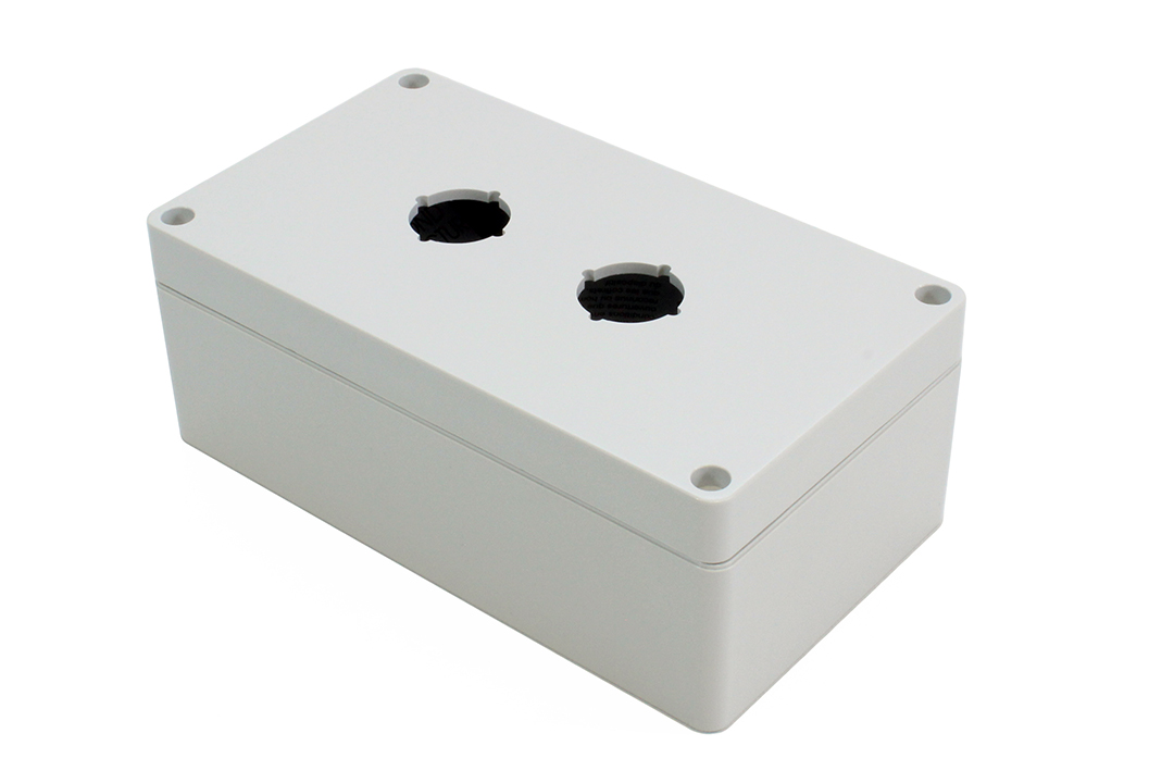 1554MPB2 - 1554PB Series Type 4, 4X Polycarbonate Pushbutton Enclosures with 22mm Hole