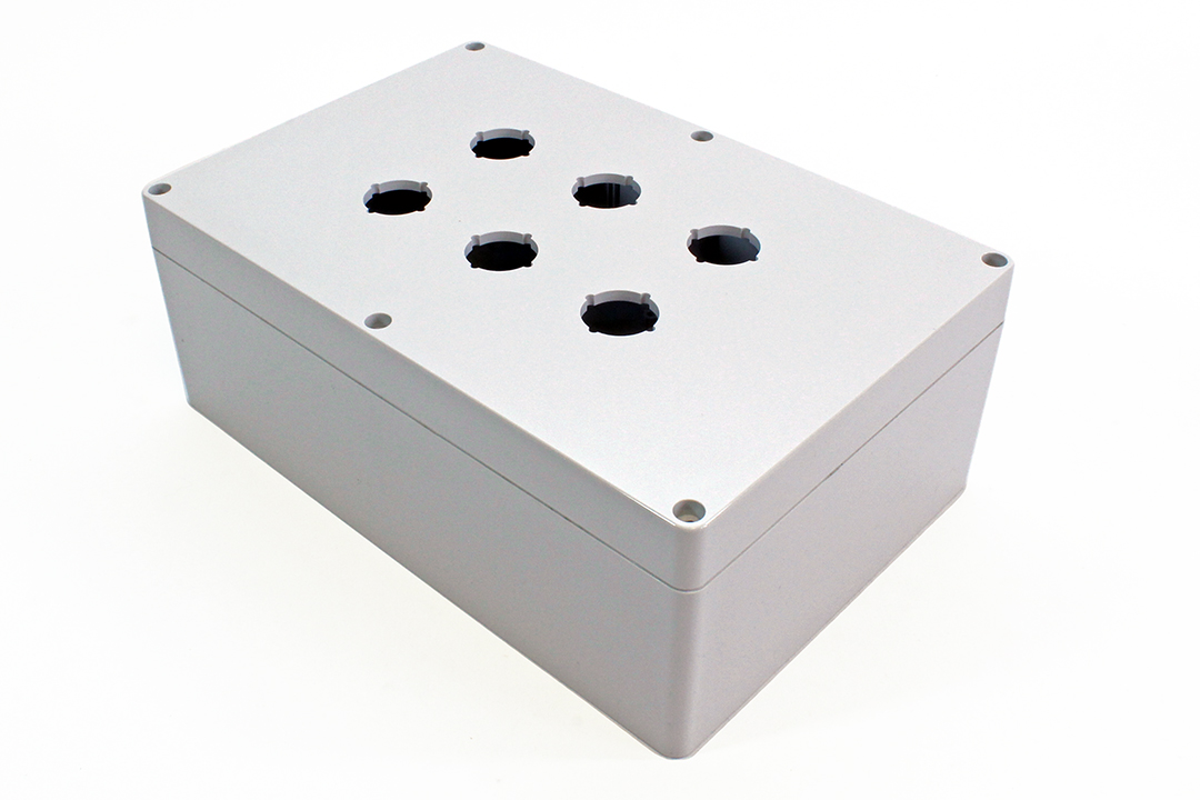 1554MPB6A - 1554PB Series Type 4, 4X Polycarbonate Pushbutton Enclosures with 22mm Hole
