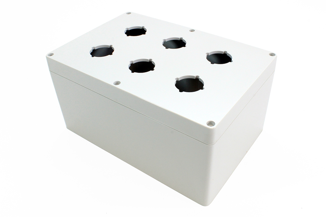 1554PB6B - 1554PB Series Type 4, 4X Polycarbonate Pushbutton Enclosures with 30.5mm Hole