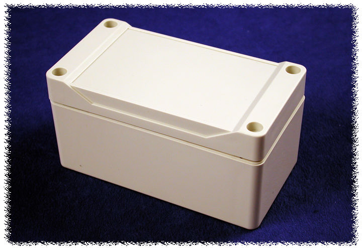 1555D2GY - 1555 Series Water-Tight Polycarbonate (UL Listed) Enclosures with Grey Lid