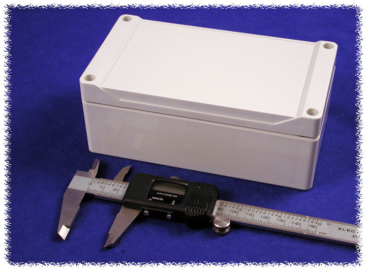 1555JGY - 1555 Series Water-Tight General Purpose ABS Enclosures with Grey Lid
