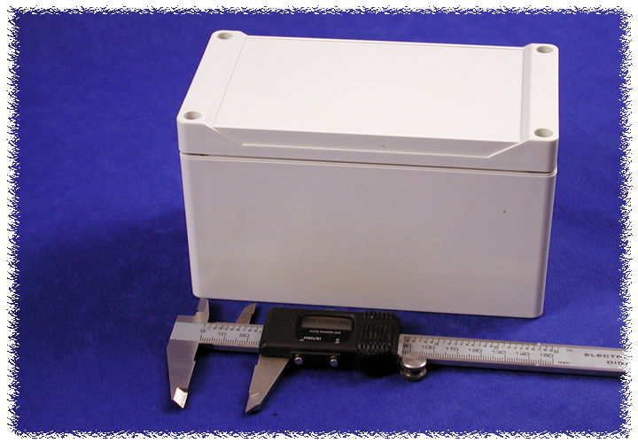 1555KGY - 1555 Series Water-Tight General Purpose ABS Enclosures with Grey Lid
