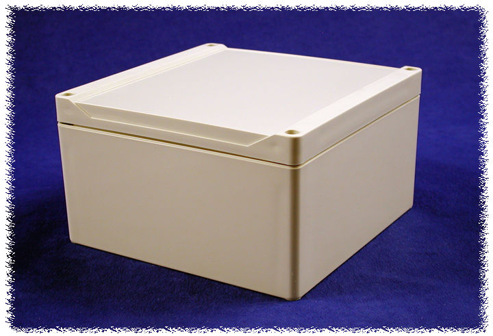 1555S2GY - 1555 Series Water-Tight Polycarbonate (UL Listed) Enclosures with Grey Lid