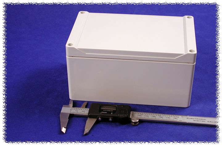 1555TGY - 1555 Series Water-Tight General Purpose ABS Enclosures with Grey Lid