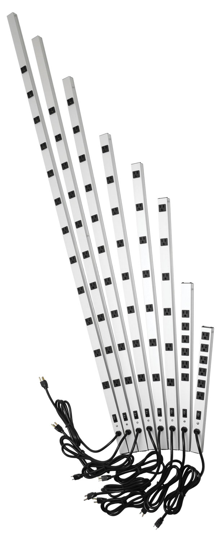 15 amp vertical rackmount surge strip  1585-6-7-8-s series