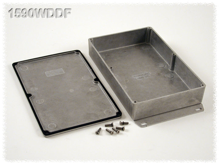1590WDDF - 1590 Series Water-Tight General Purpose Die-Cast Aluminium Enclosures with Flanged Bottom Plate