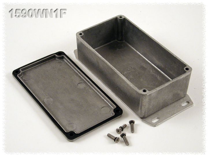 1590WN1F - 1590 Series Water-Tight General Purpose Die-Cast Aluminium Enclosures with Flanged Bottom Plate