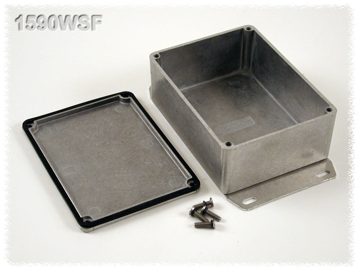 1590WSF - 1590 Series Water-Tight General Purpose Die-Cast Aluminium Enclosures with Flanged Bottom Plate