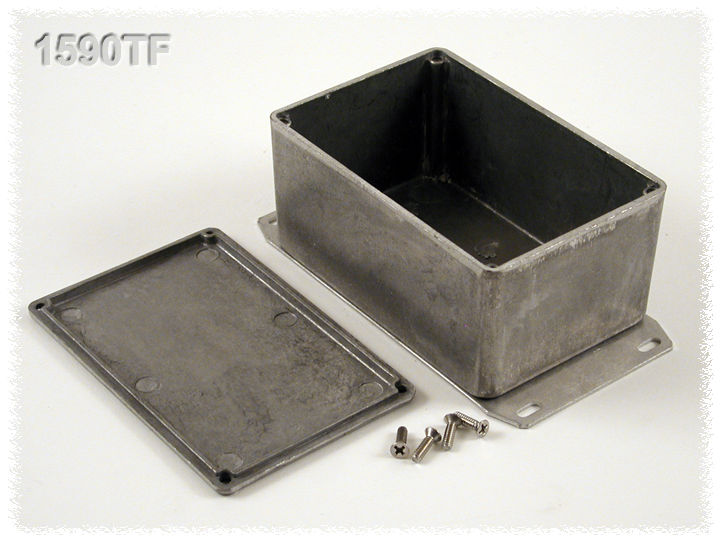 1590TF - 1590 Series General Purpose Die-Cast Aluminium Enclosures with Flanged Bottom Plate