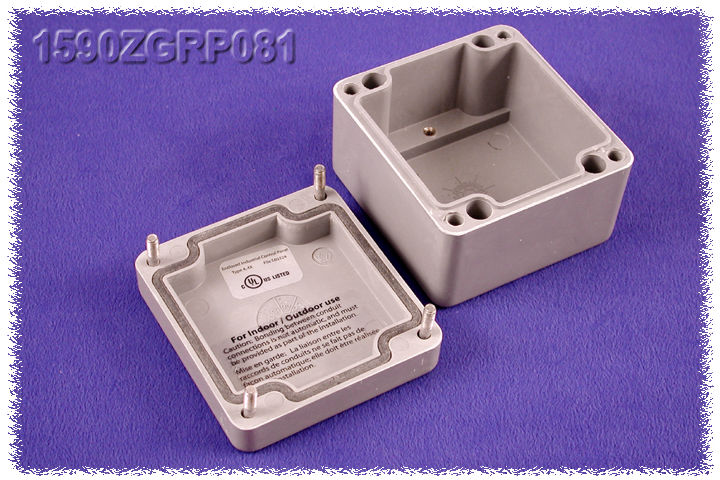 1590ZGRP081 - 1590ZGRP Series Type 4, 4X Glass Reinforced Polyester Enclosures