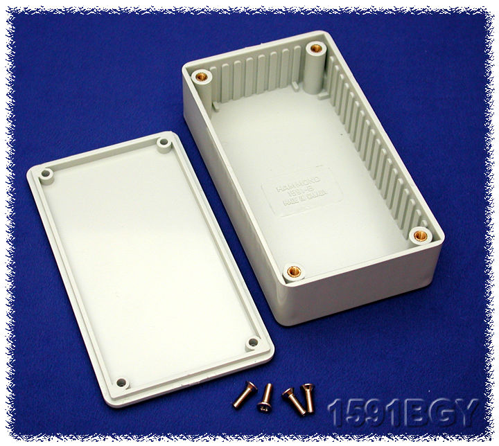 1591BGY - 1591 Series Multipurpose Flame Retardant ABS Plastic Enclosures with Card Guides