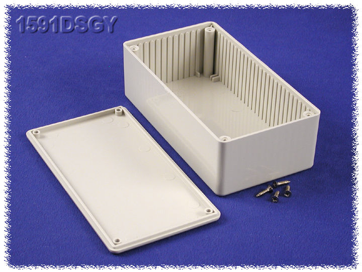 1591DSGY - 1591 Series Multipurpose General Purpose ABS Plastic Enclosures with Card Guides