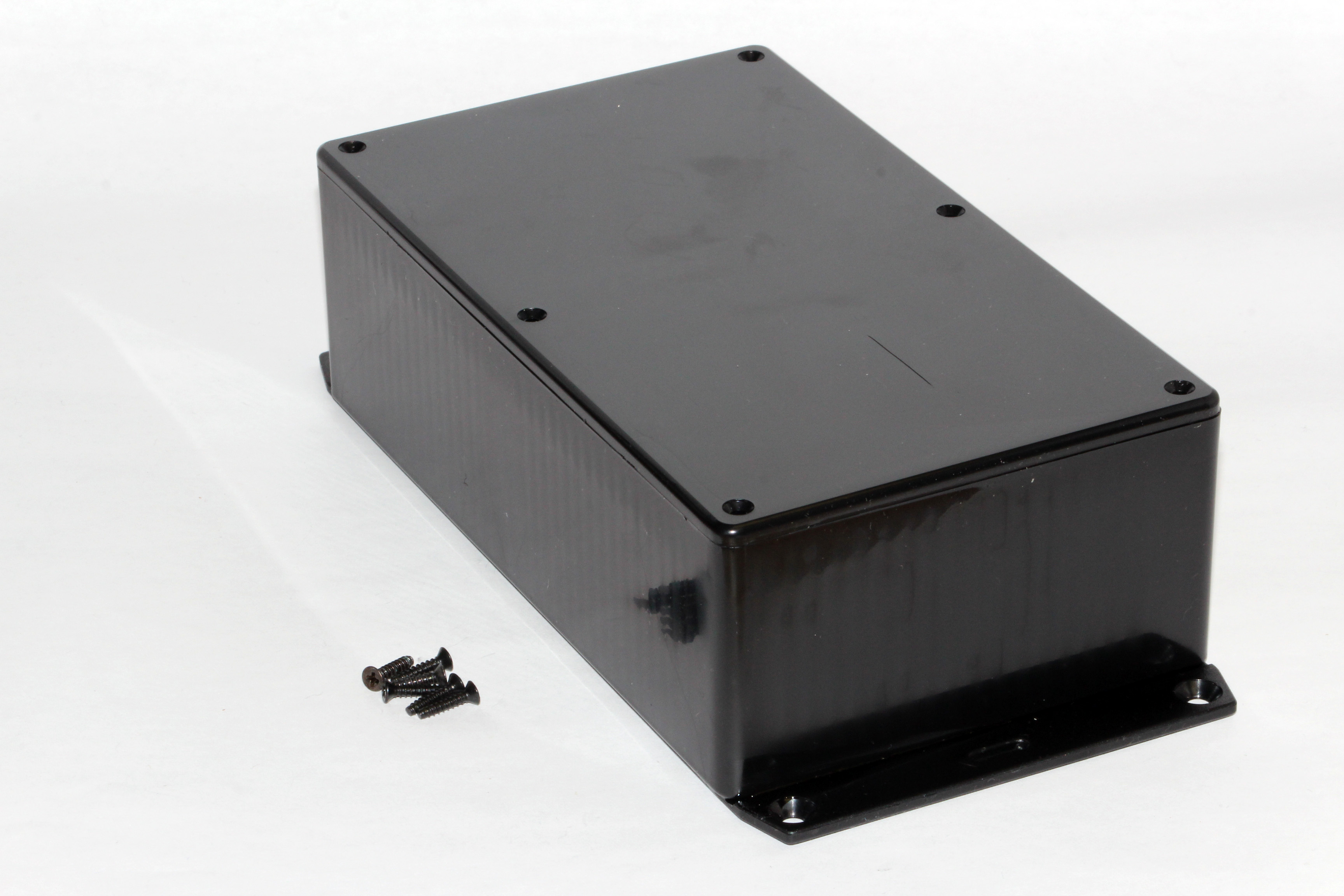 1591EF2SBK - 1591 Series Multipurpose General Purpose ABS Plastic Enclosures with Bottom Flange