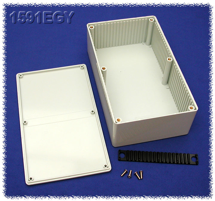 1591EGY - 1591 Series Multipurpose Flame Retardant ABS Plastic Enclosures with Card Guides