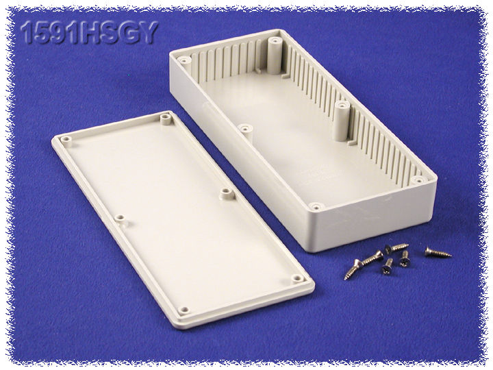 1591HSGY - 1591 Series Multipurpose General Purpose ABS Plastic Enclosures with Card Guides