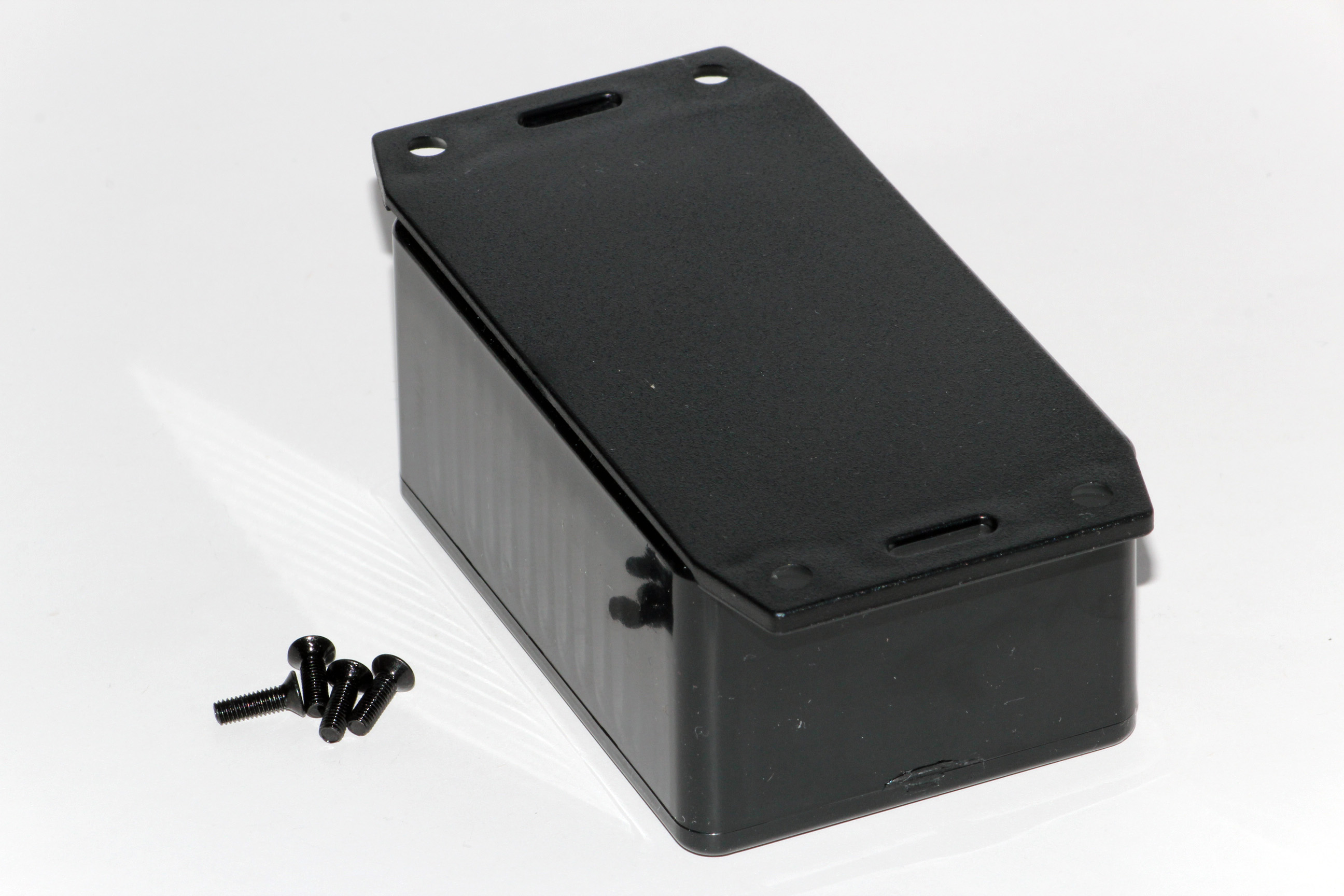 1591LF2BK - 1591 Series Multipurpose Flame Retardant ABS Plastic Enclosures with Bottom Flange
