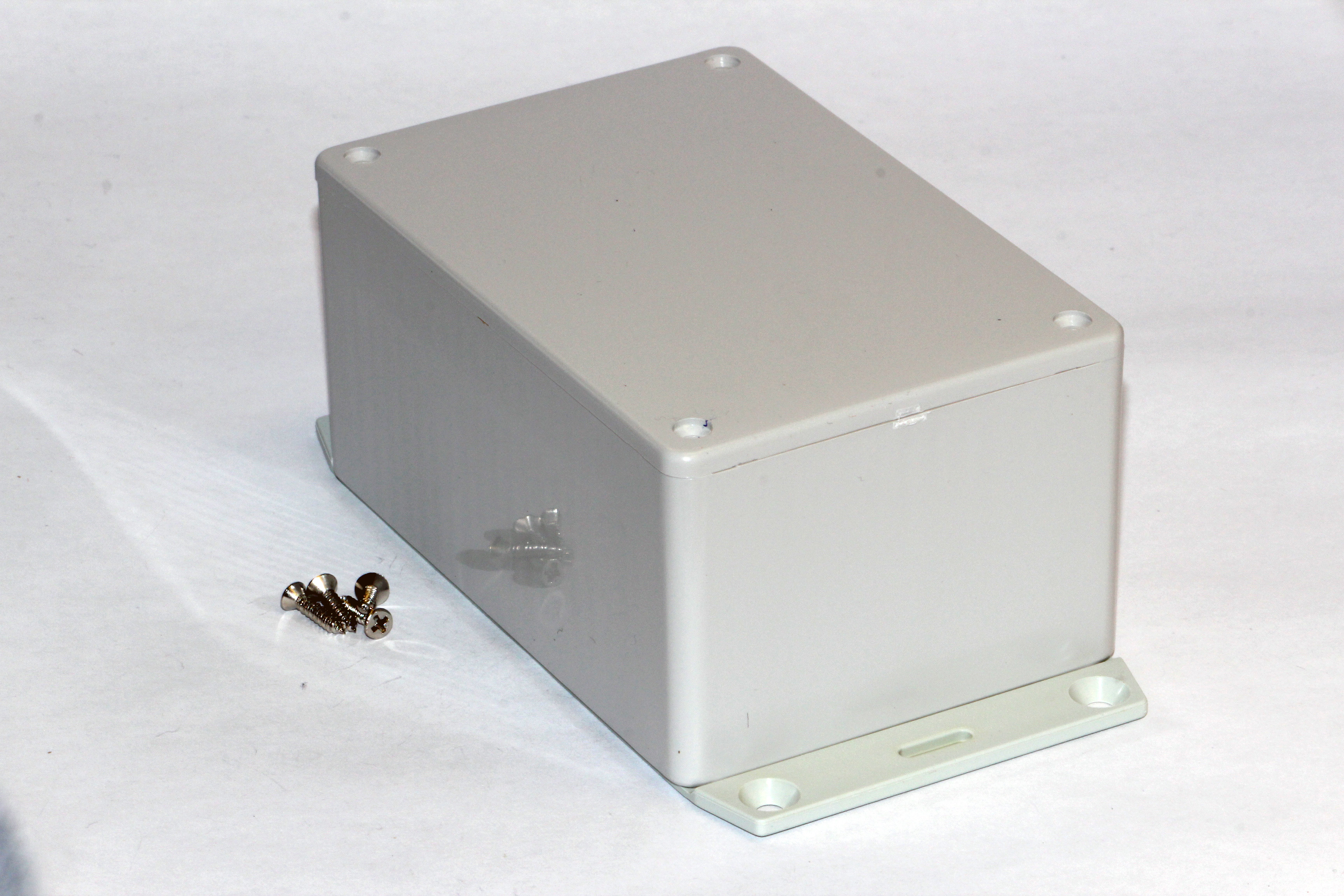 1591TF2SGY - 1591 Series Multipurpose General Purpose ABS Plastic Enclosures with Bottom Flange