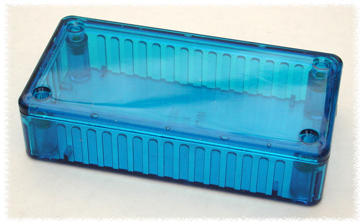 1591ATBU - 1591T Series Multipurpose Translucent Polycarbonate Enclosures with Card Guides